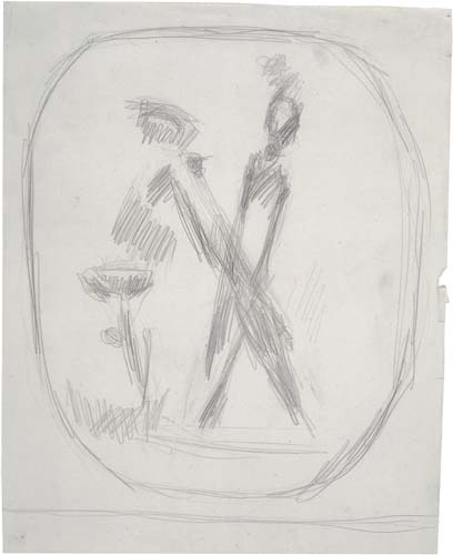 "Study (for ""Walking Man"" or ""Slingshot"")"