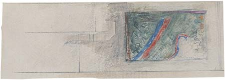 Study for the tapestry for Beit Halochem, Afeka