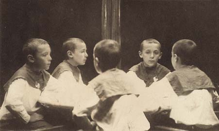 Photograph in front of a mirror, Kharkov, c. 1920