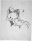 Woman Reclining on Armchair
